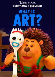 affiche poster fourchette forky question art disney pixar