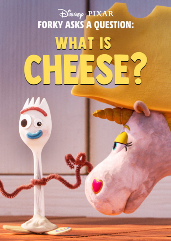affiche poster fourchette question forky fromage cheese disney pixar