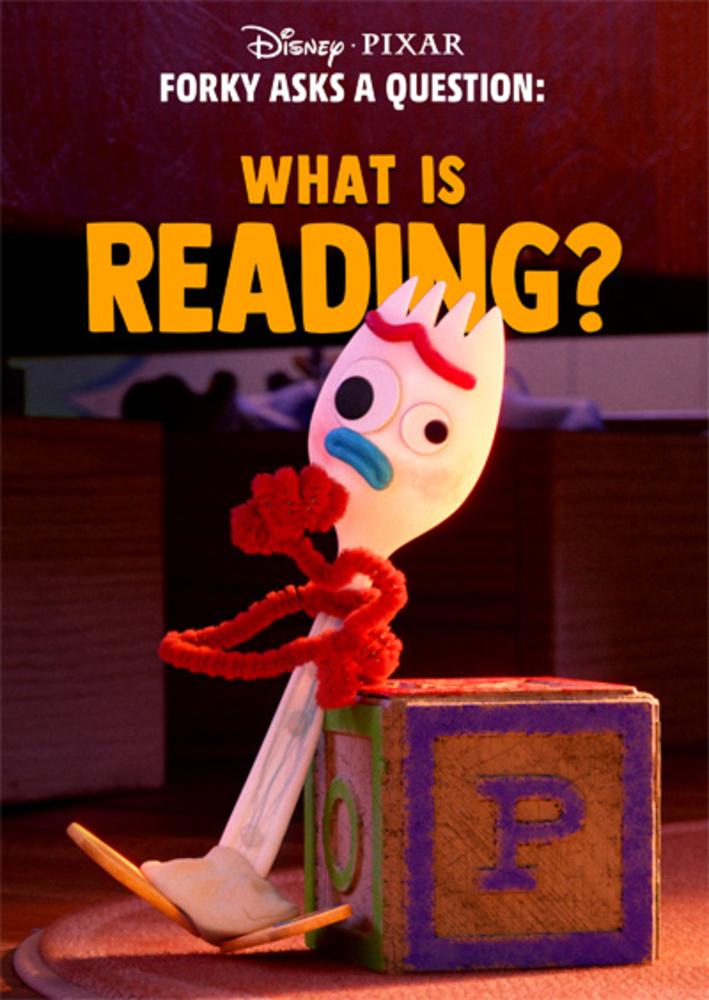 affiche poster fourchette question forky lire reading disney pixar
