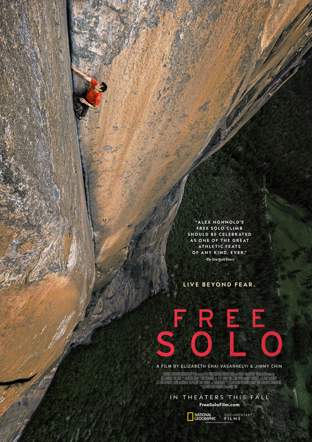 affiche poster free solo disney national geographic