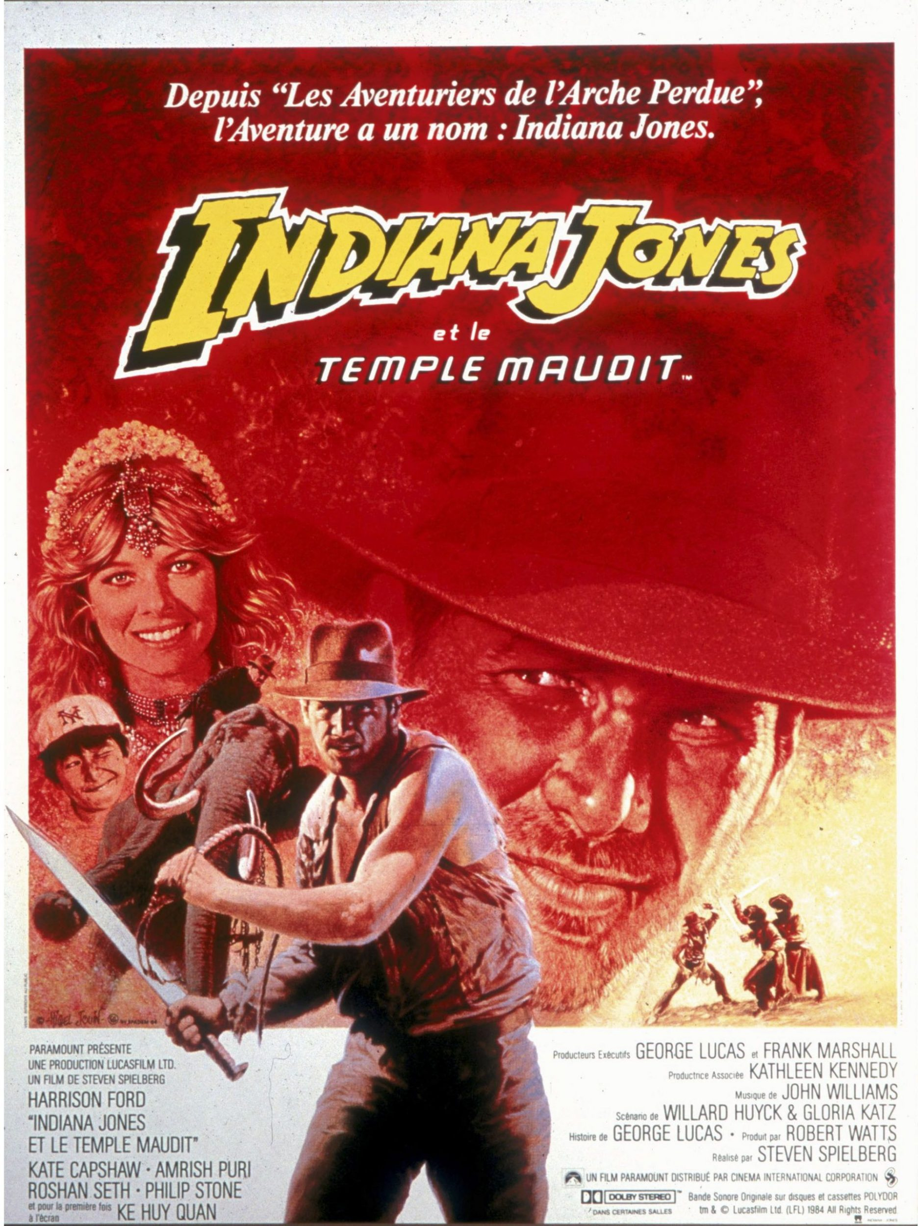 affiche poster indiana jones temple maudit doom disney fox