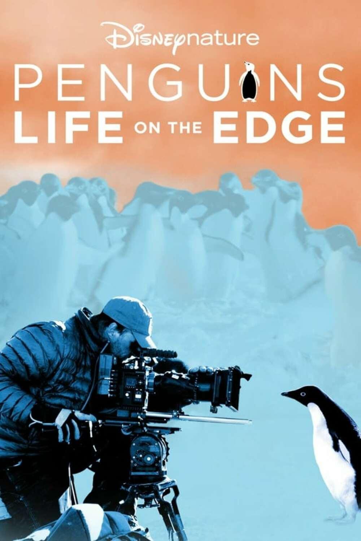 affiche poster manchots vie risques penguins life edge disney nature plus