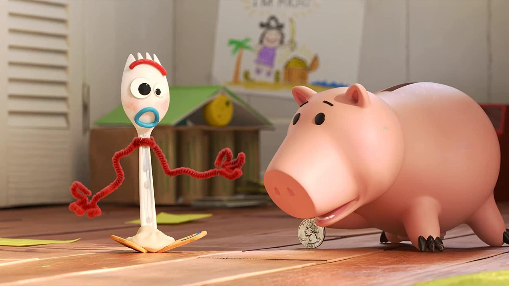 image fourchette forky question argent money disney pixar