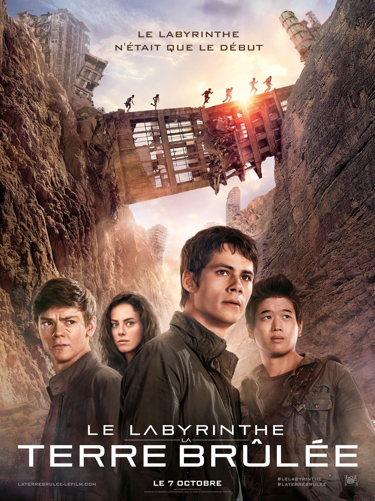 affiche poster labyrinthe terre brulee maze runner scorch trials disney fox
