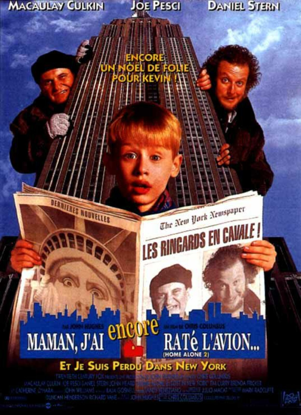 affiche poster maman raté encore avion home alone 2 lost new york disney fox