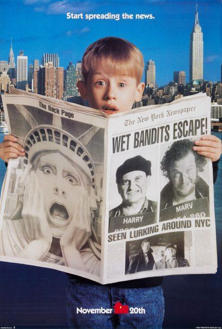affiche poster maman raté encore avion home alone 2 lost new york disney fox