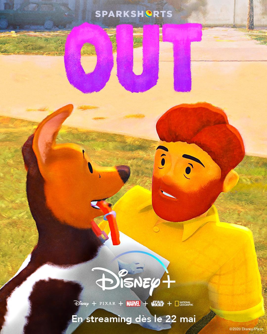 affiche poster out disney pixar