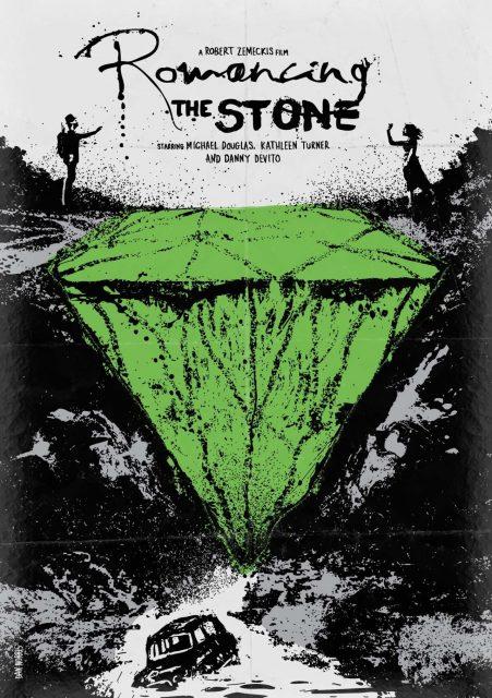 affiche poster poursuite diamant vert romancing stone disney fox