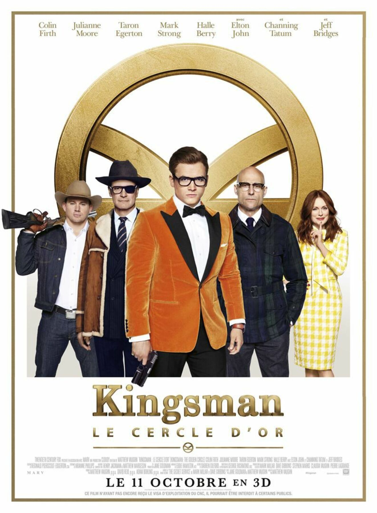 affiche poster kingsman cercle or golden circle disney fox