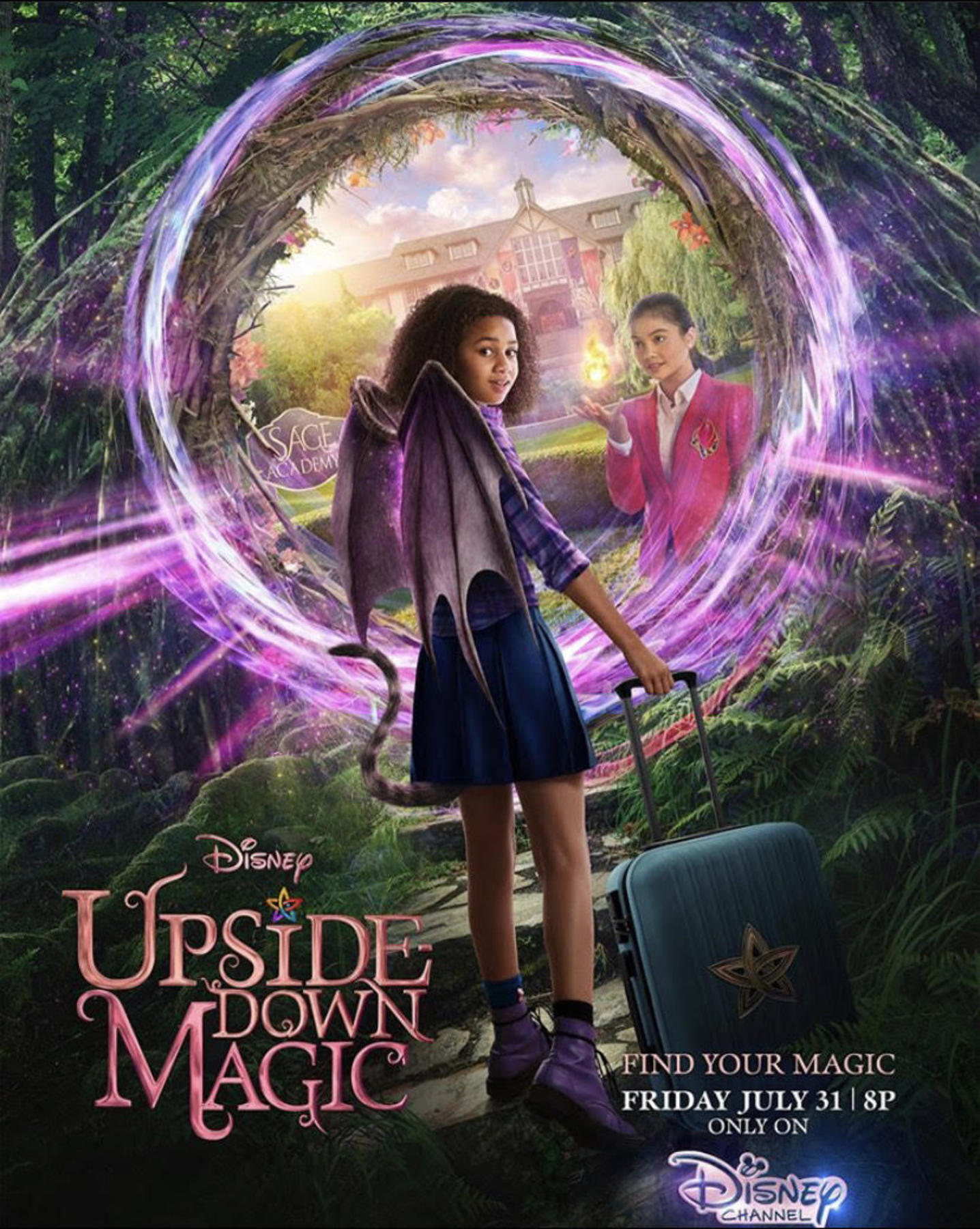 affiche poster upside down magic disney channel