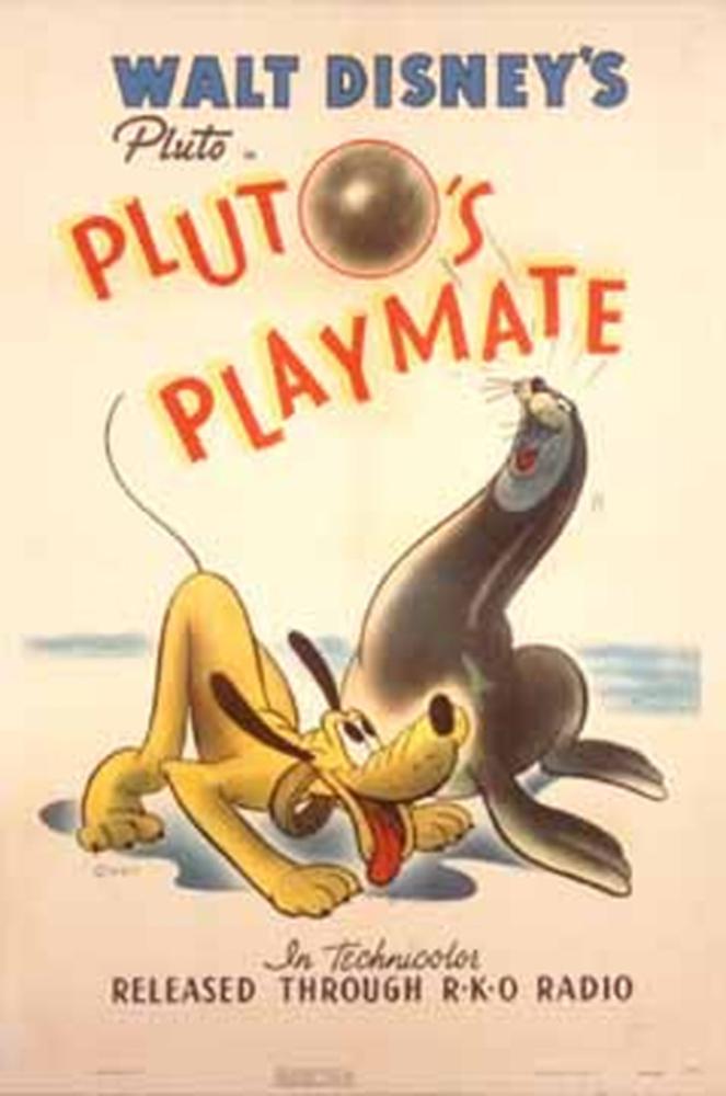 affiche poster camarade pluto playmate disney