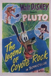 affiche poster légende rocher coyote rock disney pluto