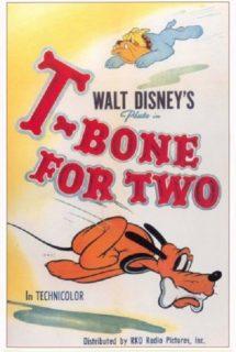 affiche poster os pour deux bone two disney pluto