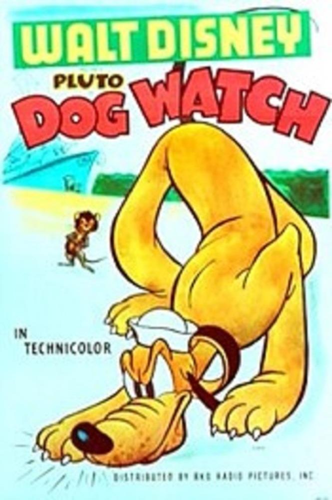 affiche pluto garde dog watch disney