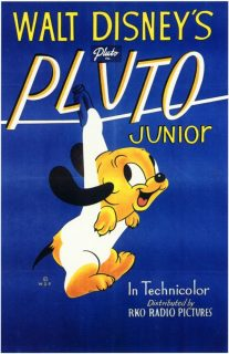 affiche poster pluto junior disney