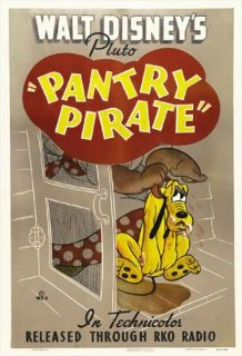 affiche poster pluto resquilleur pantry pirate disney