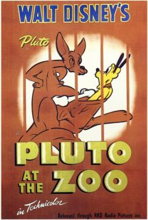 affiche poster zoo pluto disney