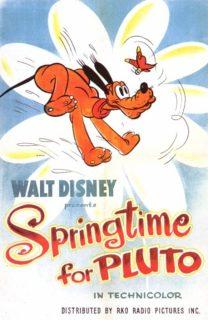 affiche poster printemps springtime pluto disney