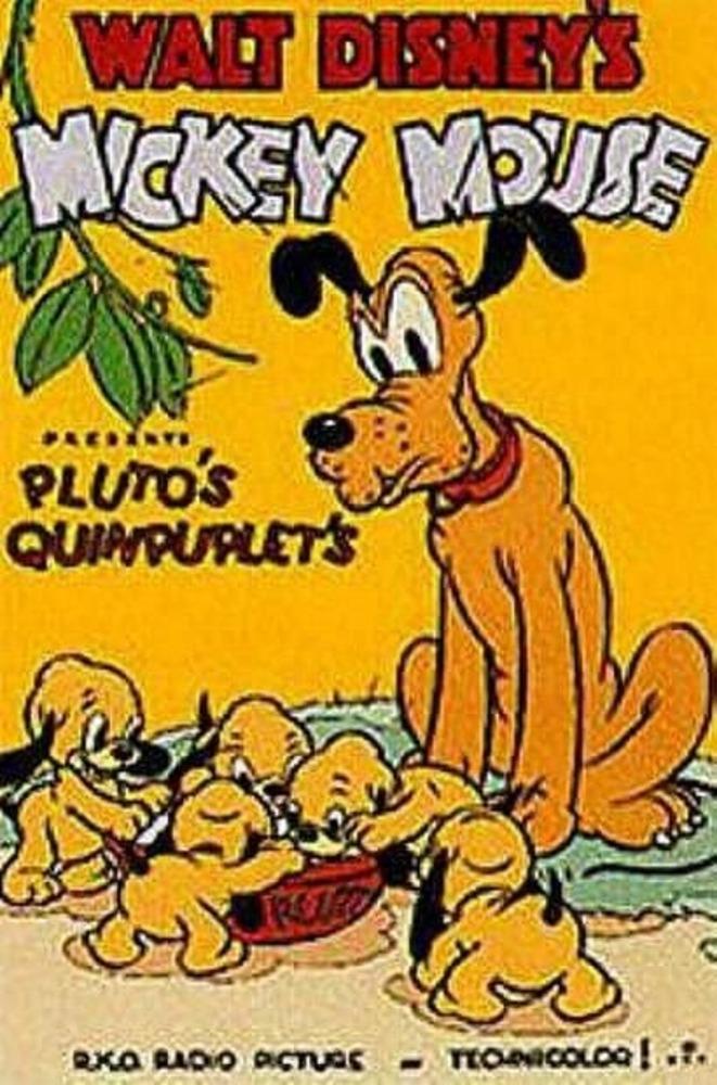 affiche poster quintuples quintuplet pluto disney