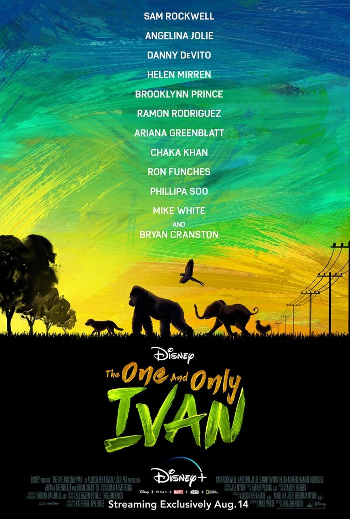 affiche poster seul unique ivan only one disney