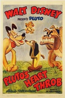 affiche poster amours pluto heart throb disney
