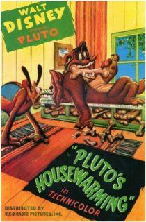 affiche poster chauffe pluto housewarming disney