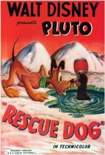 affiche poster chiens secours rescue dog pluto disney