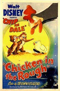 affiche poster drole poussin chicken rough tic tac chip dale disney