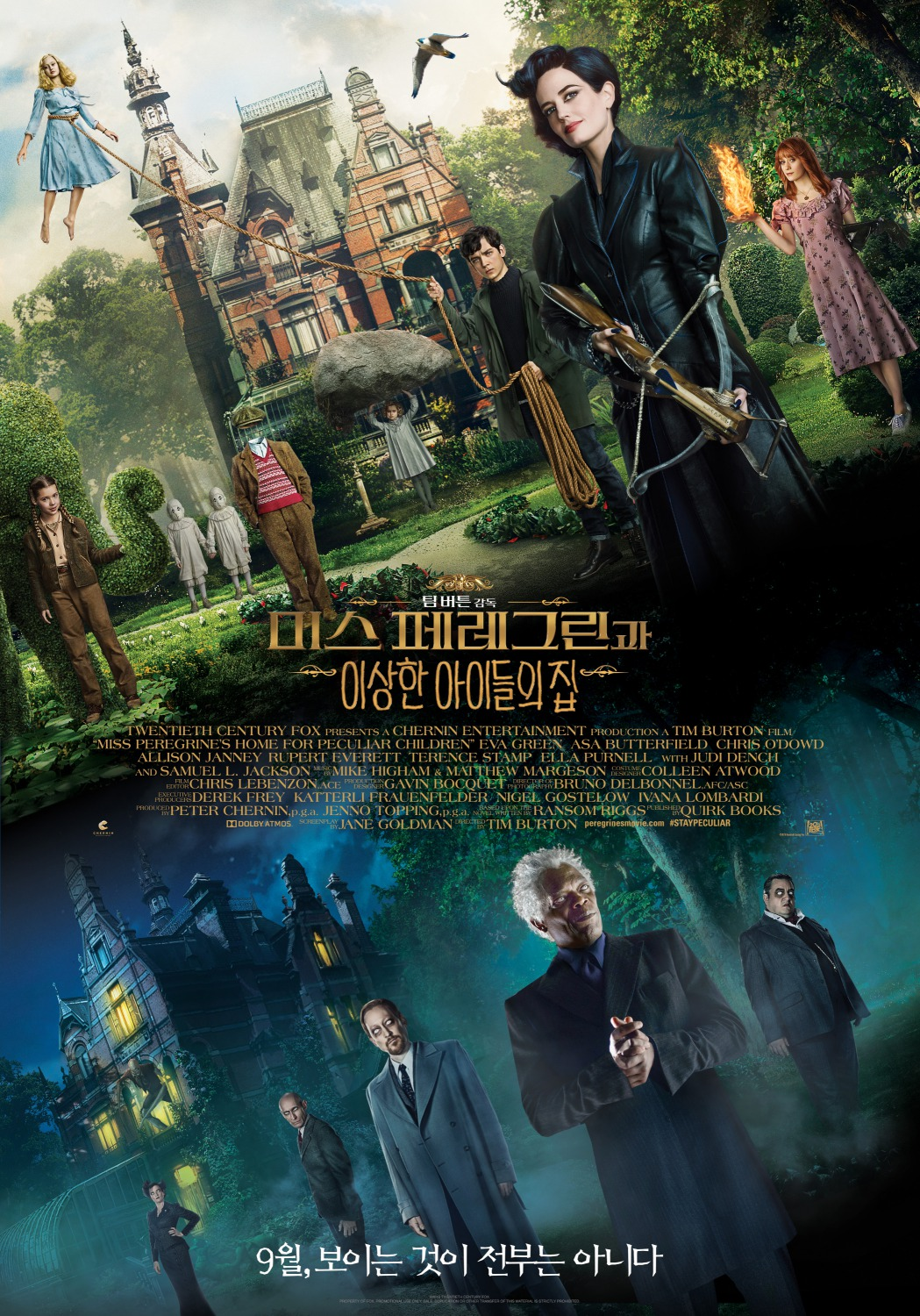 affiche poster miss peregrine enfants particuliers home peculiar children disney fox