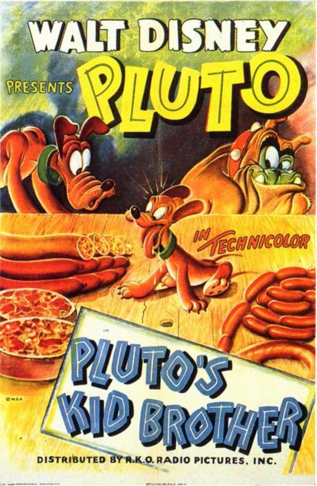 affiche poster petit frère pluto kid brother disney