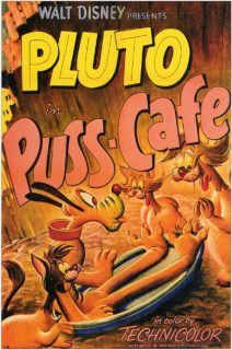 affiche poster pluto aime chats puss cafe disney