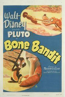 affiche poster pluto bone bandit disney