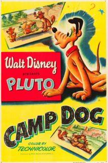 affiche poster pluto chien garde camp dog disney