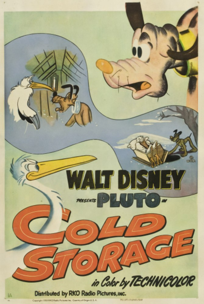 affiche pluto cigogne cold storage disney