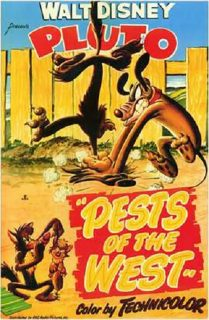 affiche poster pluto coyotes pests west disney