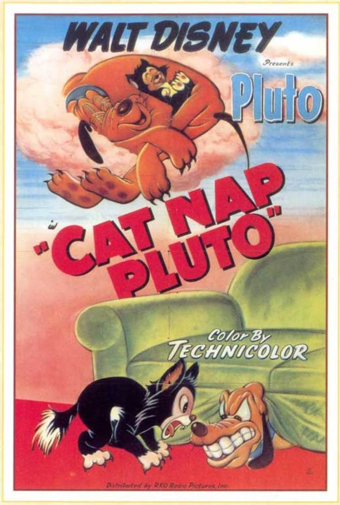 affiche poster pluto figaro cat nap disney
