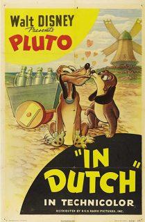 affiche poster pluto pays tulipes dutch disney