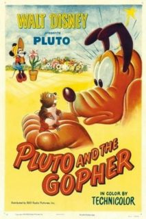 affiche poster pluto gopher rat champs disney