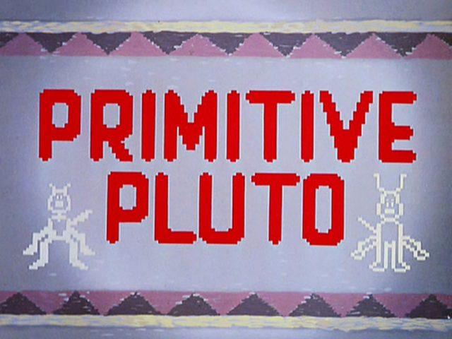 affiche poster primitive pluto disney