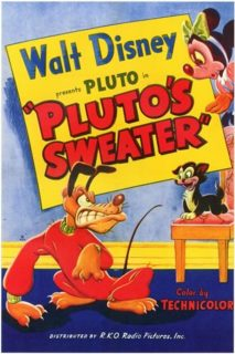 affiche poster pull over sweater pluto disney