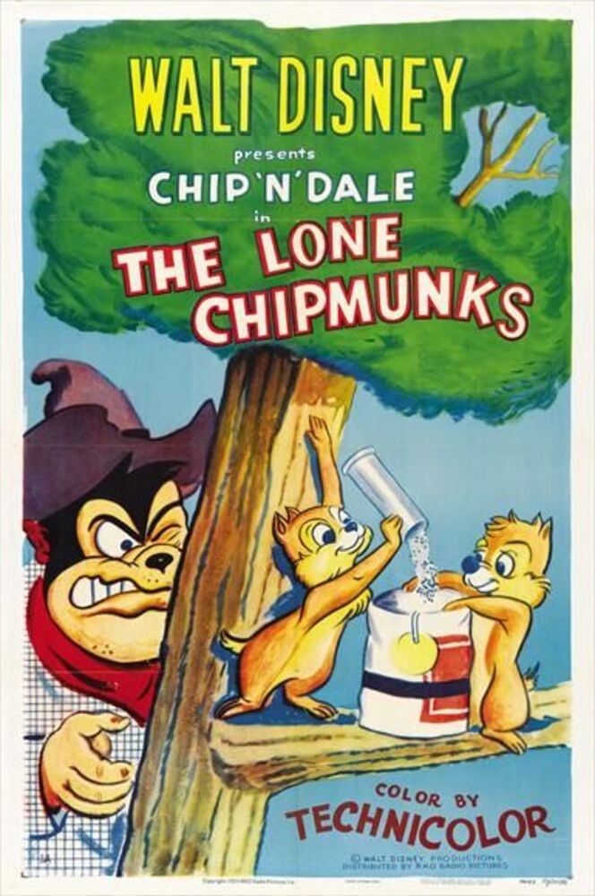 affiche poster tic tac far west lone chipmunks chip dale disney