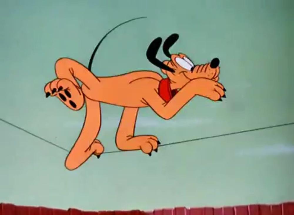 image pluto acrobate wonder dog disney