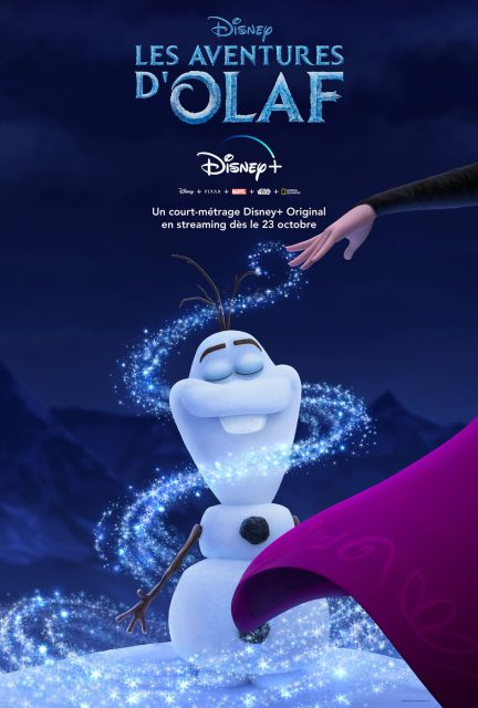 affiche poster aventures olaf once upon snowman disney