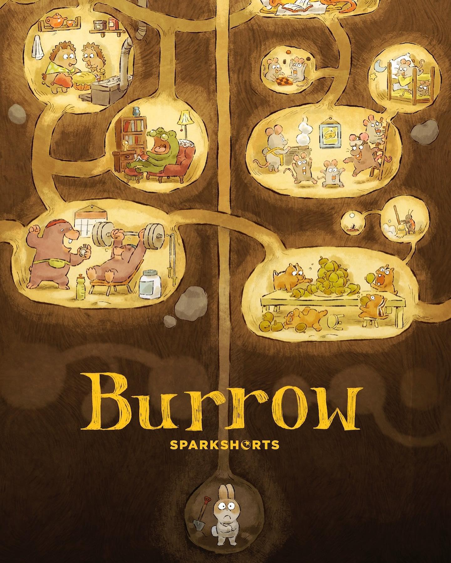 affiche poster terrier burrow disney pixar sparkshort
