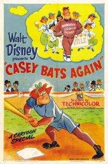 affiche poster casey contre attaque bats again disney