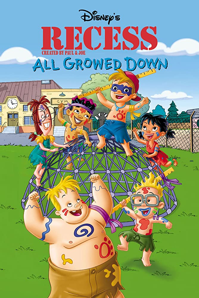 affiche poster cour récré petit contre attaquent recess All Growed Down disney