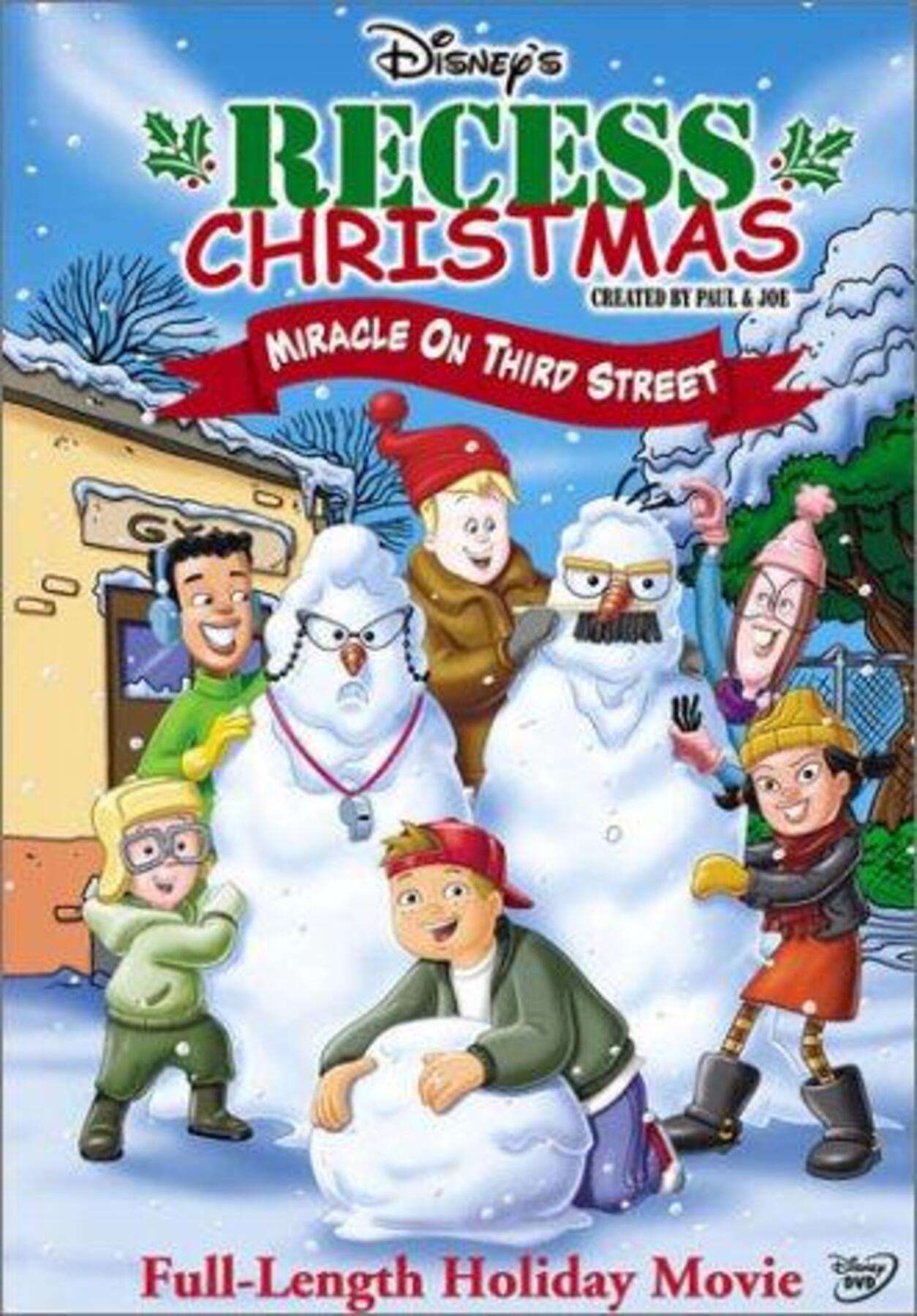 affiche poster cour récré vacances noel recess christmas miracle third street disney