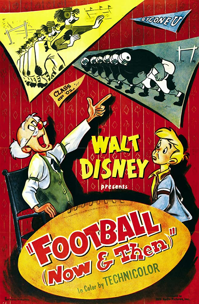 affiche poster football now then disney