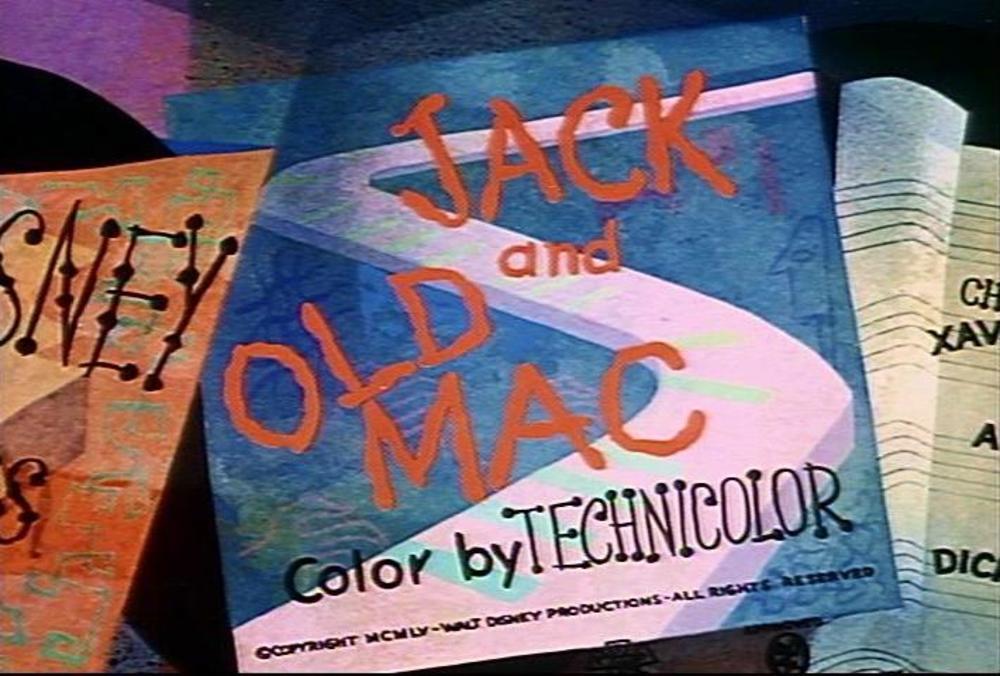 affiche poster jack old mac disney