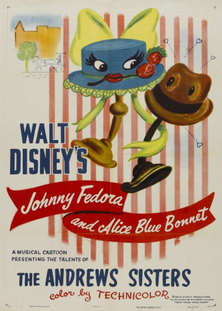 affiche poster johnny fedora alice blue bonnet disney